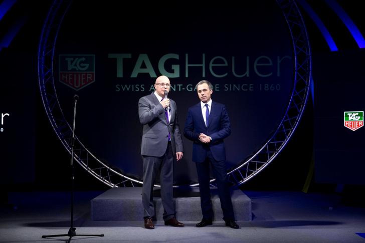Глава TAG Heuer Стефан Линдер и Генеральный директор филиала TAG Heuer в России и СНГ Олег Кайдалов