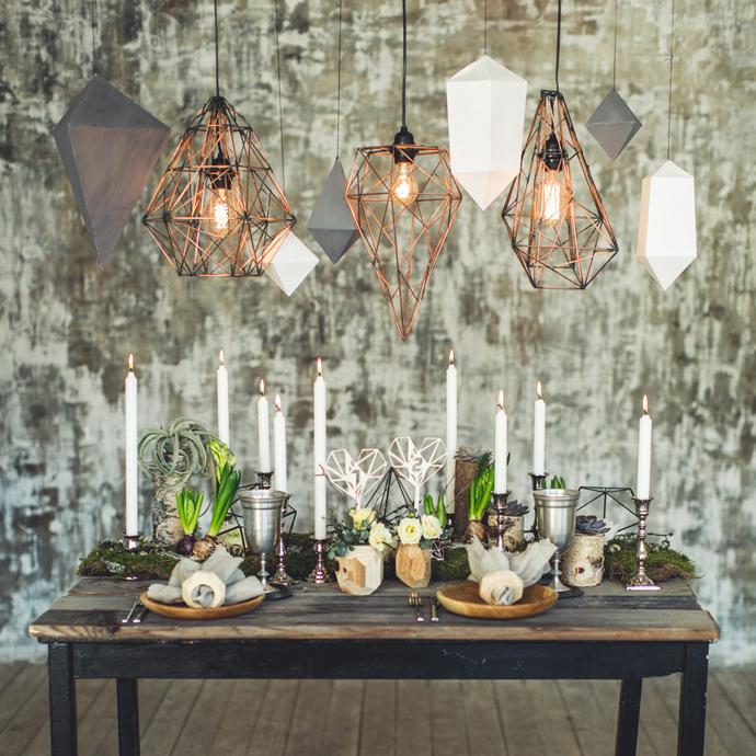 Дизайнерские лампы своими руками