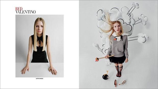 Лотти Мосс в рекламе Red Valentino