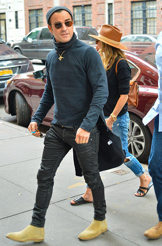 Осень в Нью-Йорке: Дженнифер Энистон и Джастин Теру на свидании фото [2]