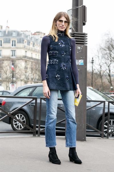 С чем носить джинсы осенью фото | галерея [3] фото [2]