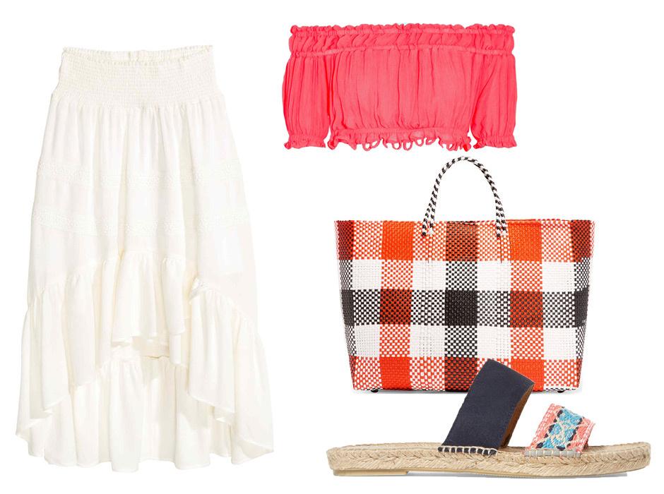С чем носить белую юбку солнце