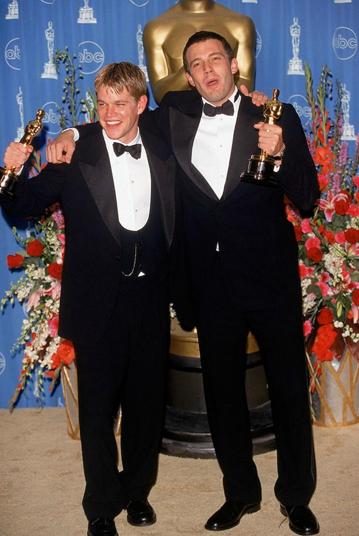 """Мэтт Дэймон и Бен Аффлек на церемонии """"Оскар"""" (1997)"""