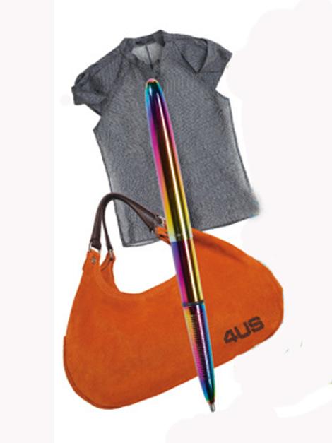 Блузка Hugo, ручка Fisher Space Pen, сумка