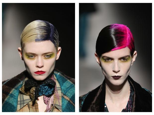 Яркий макияж на показе Dries Van Noten AW 20 (фото 0)