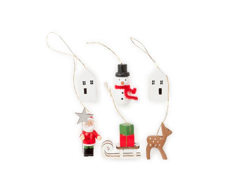 Елочные украшения Santa in Town, Romi, www.designboom.ru,