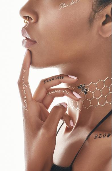 Бейонсе снялась в рекламе собственной коллекции флэш-тату | галерея [1] фото [8]