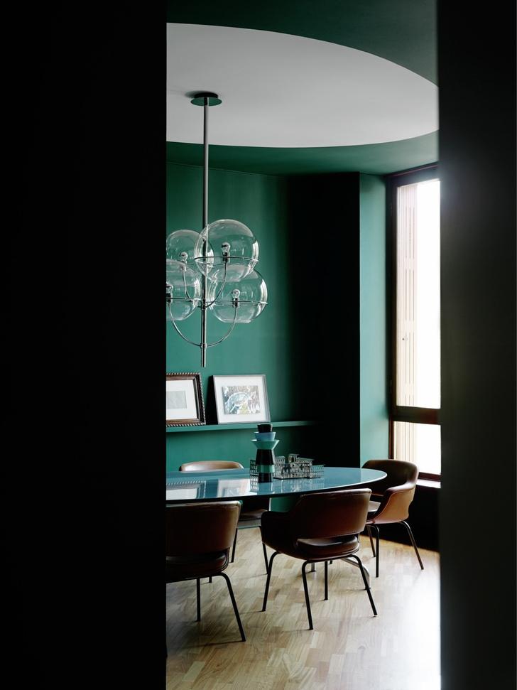 Миланская квартира в зеленых тонах (фото 0)