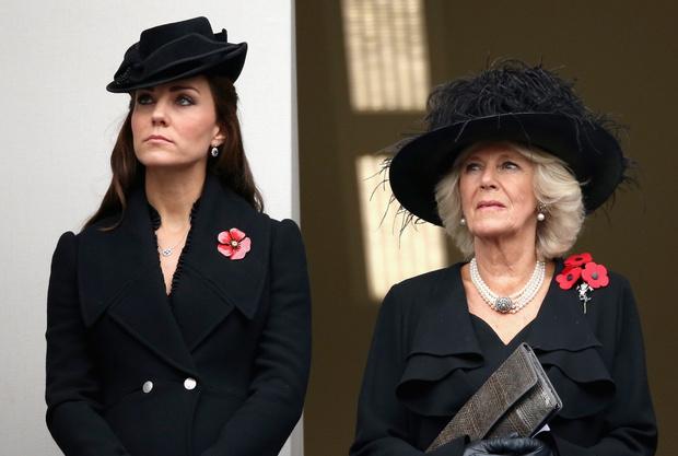 Кэтрин Элизабет и герцогиня Корнуольская Камилла