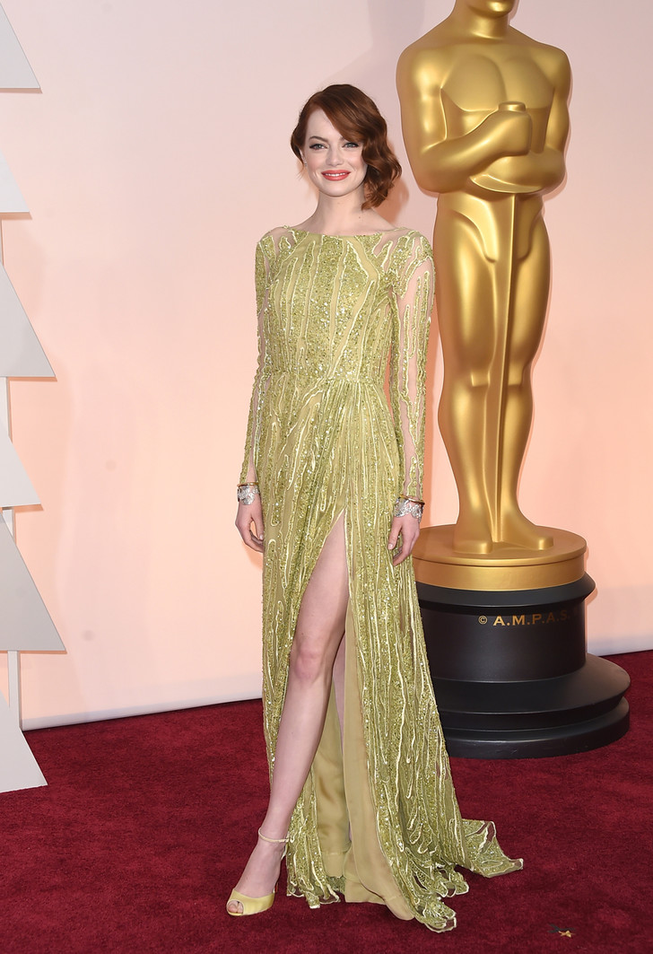 """Эмма Стоун на церемонии """"Оскар""""-2015"""