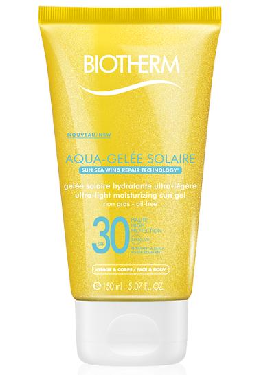 Солнцезащитный увлажняющий аквагель Aqua-Gelee Solaire SPF 30 от Biotherm