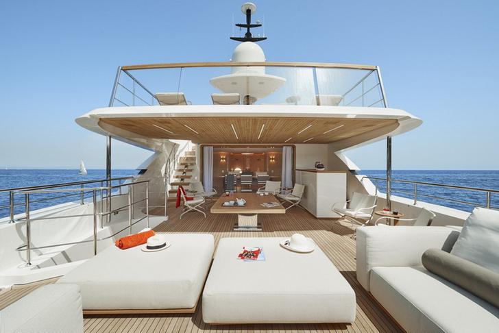 Яхта Sanlorenzo SD112 Kathleen, дизайн Антонио Читтерио