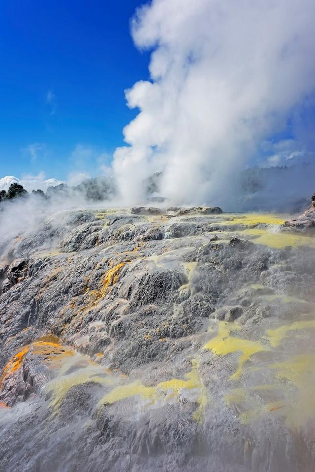Гейзер Похуту, Роторуя, Новая Зеландия