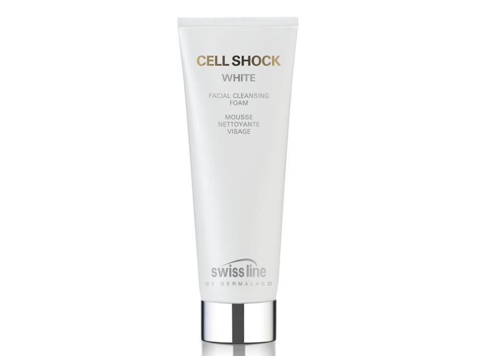 Swiss Line, очищающий и осветляющий мусс Cell Shock White Facial Cleansing Foam