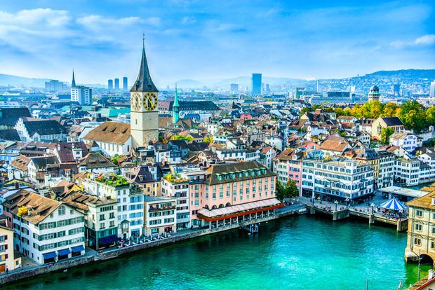 Цюрих, Швейцария самые безопасные города мира