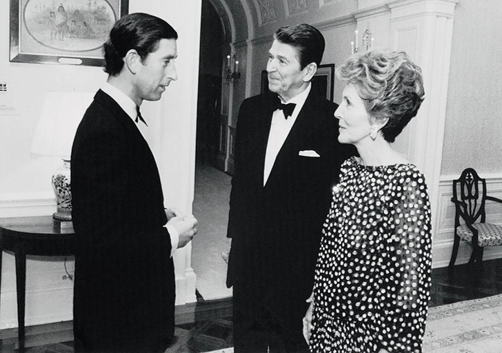 Принц Чарльз и Нэнси Рейган