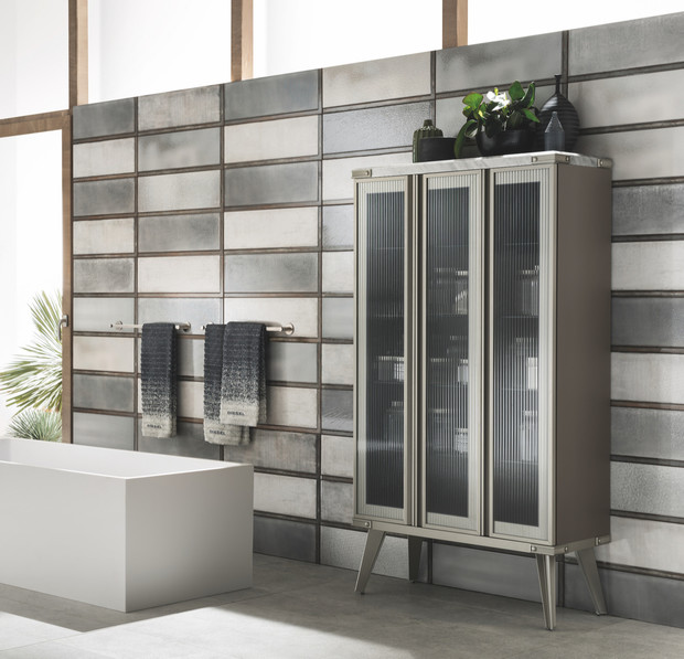 Ванная комната в стиле лофт — идеи оформления и объекты из металла (фото 6)