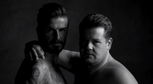 David Beckham and James Corden