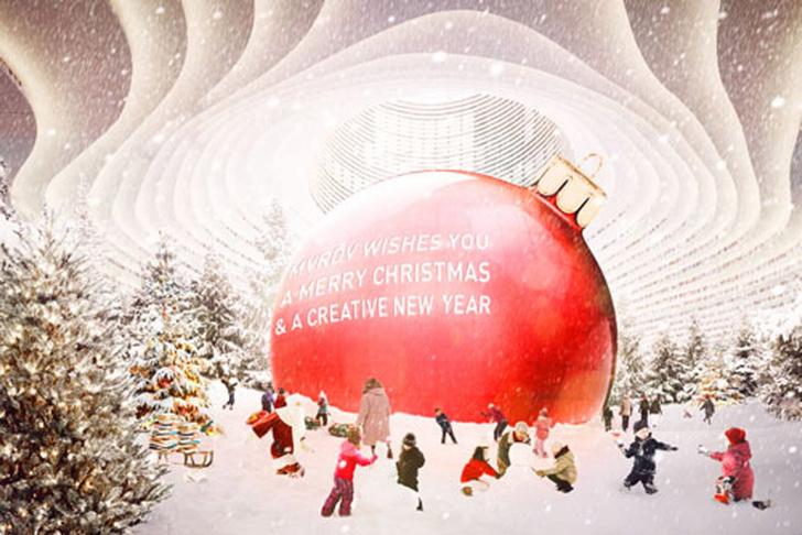 Рождественские открытки от дизайнеров и архитекторов (фото 6)