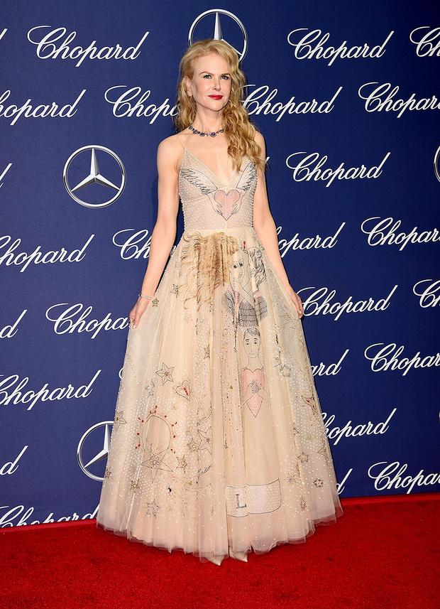 В платье Dior, 2017 год