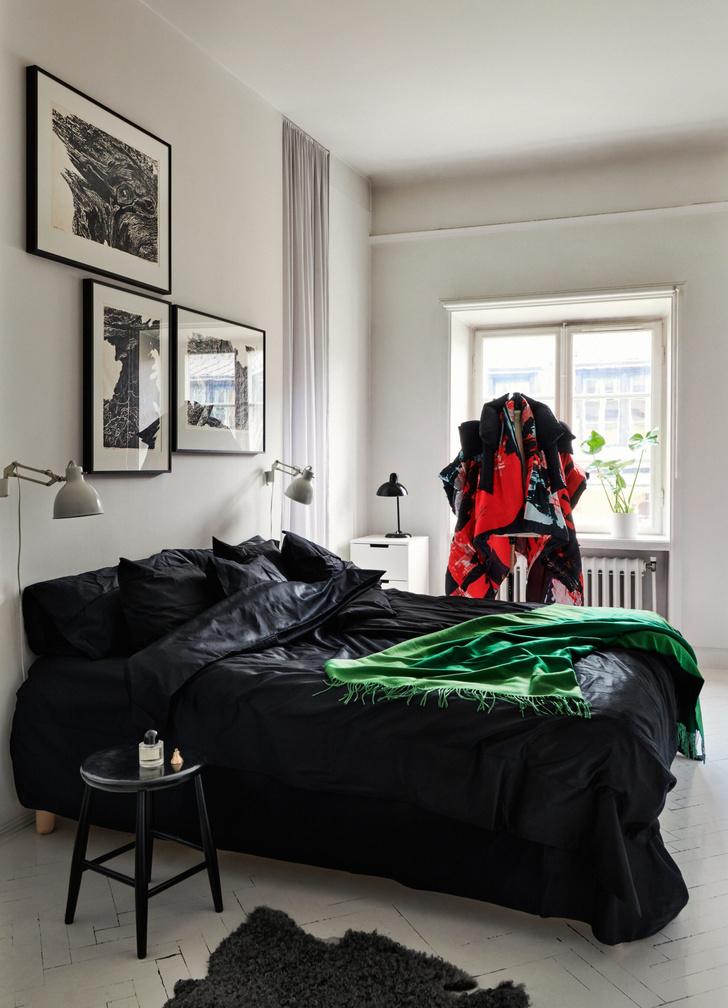 Монохромная квартира для дизайнера в Стокгольме (фото 12)