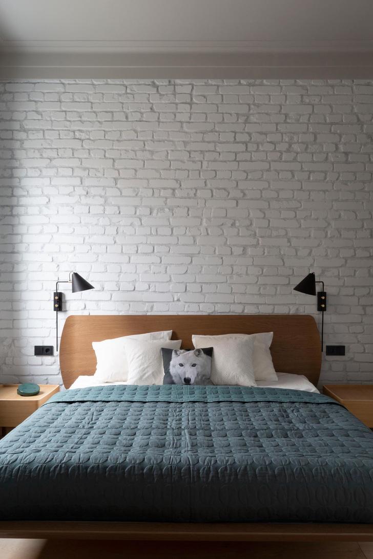 Белая квартира с синими акцентами 78 м² (фото 8)