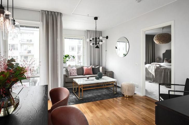 Светлая квартира 62 м² в Стокгольме (фото 0)