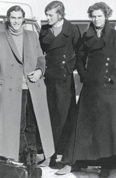 Британские студенты в пальто макси, 1971 год