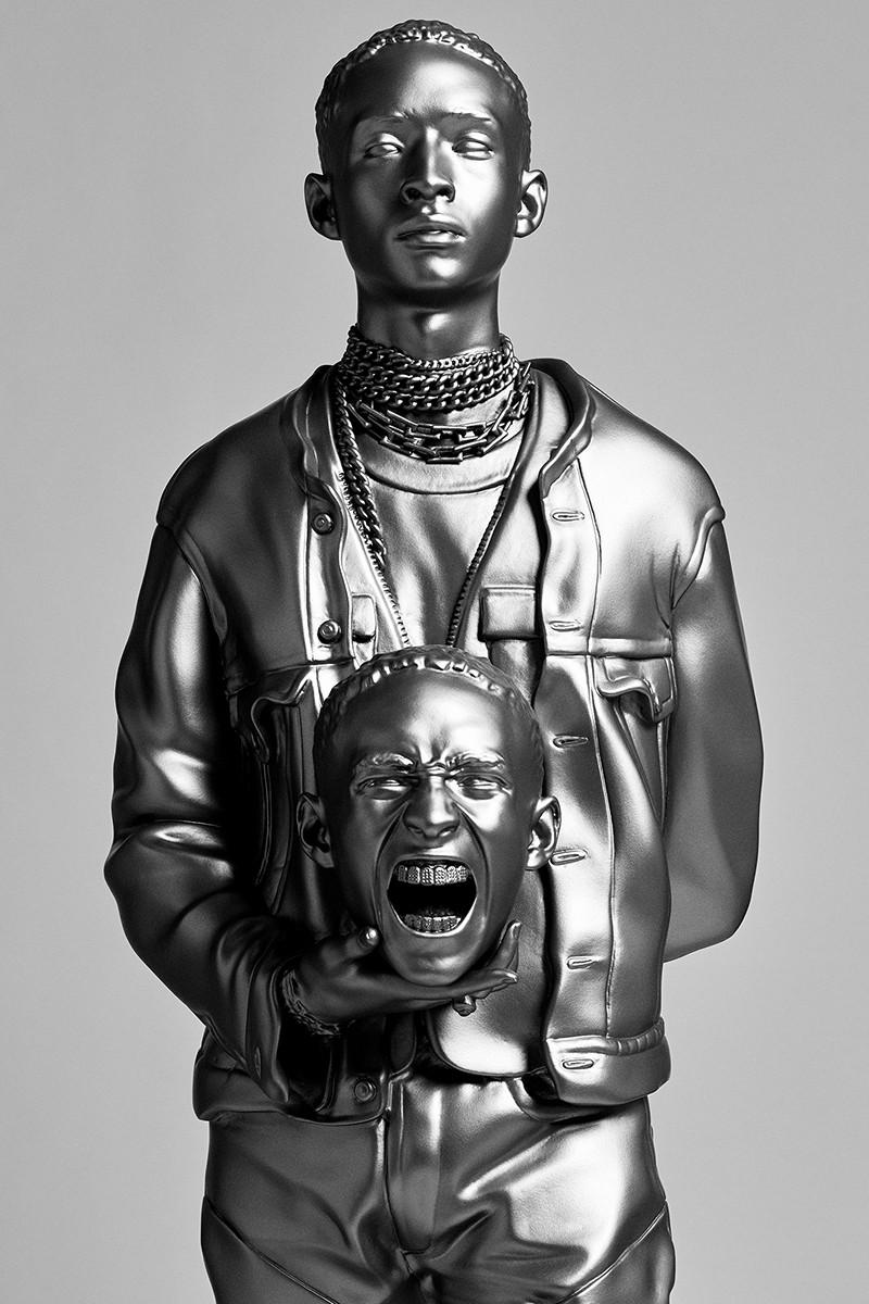 Image result for В Нью-Йорке появились статуи Карди Би и Джейдена Смита