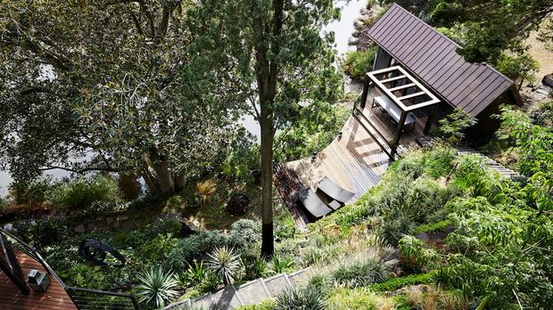 Эклектичный сад на берегу реки в Австралии (фото 7)