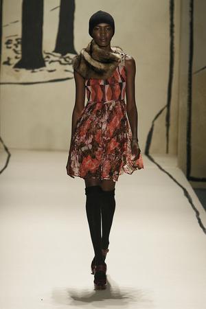 Показ Tracy Reese коллекции сезона Осень-зима 2009-2010 года Prêt-à-porter - www.elle.ru - Подиум - фото 91974