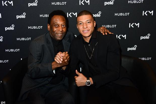 Футболисты Пеле и Килиан Мбаппе встретились благодаря Hublot (фото 1)