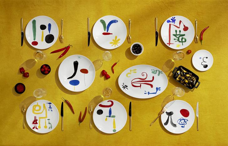 Коллекция посуды Bernardaud с рисунками Жоана Миро (фото 0)