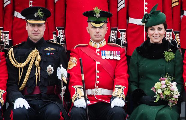 Кейт Миддлтон и принц Уильям на параде в честь Дня святого Патрика (фото 1)