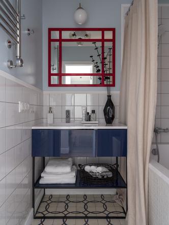 Дитя заката: фламинго и другие яркие  решения в типовой квартире 55 м² (фото 14.1)