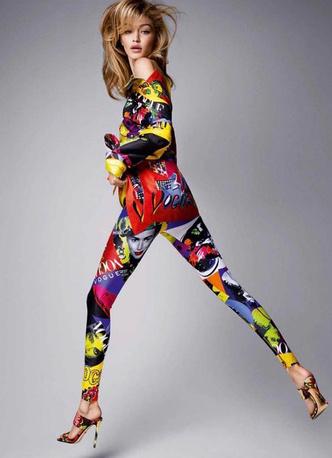 Кайя Гербер, Наоми Кэмпбелл и Джиджи Хадид в новой рекламной кампании Versace (фото 7)