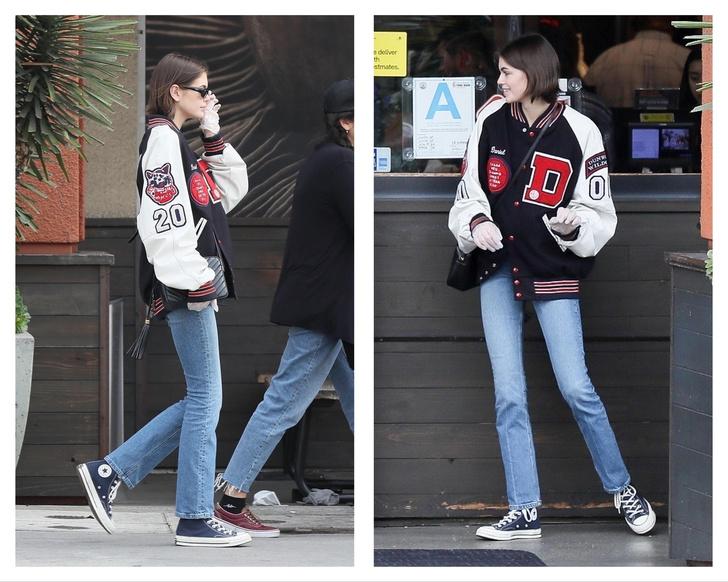 Резиновые перчатки + микро-шорты: в чем Кайя Гербер и Кара Делевинь вместе ходят за покупками (фото 3)