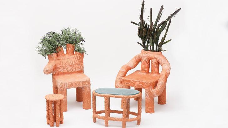 Глиняная мебель Криса Уолстона (фото 0)