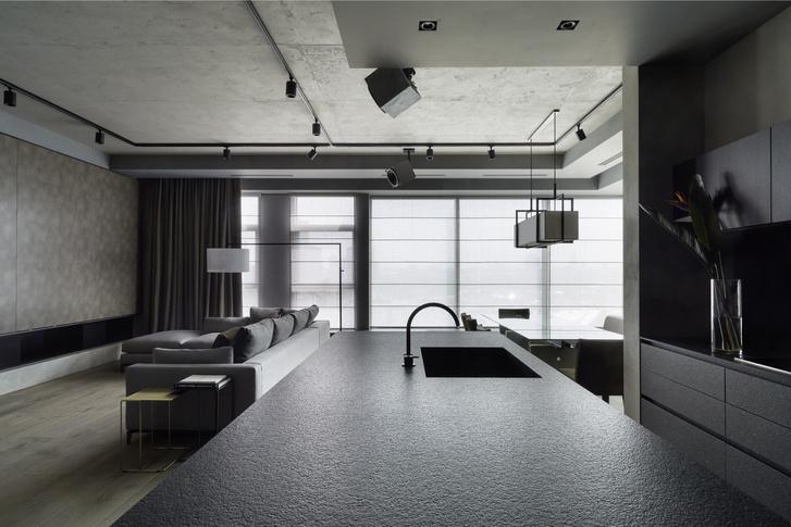 Брутальный интерьер квартиры в Москве (фото 8)