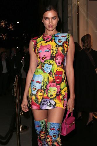 Pop-art: образ Ирины Шейк на открытии бутика Versace (фото 1)