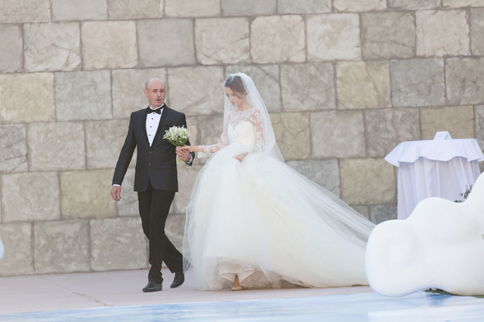 Невеста с отцом