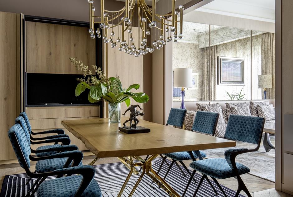 Золото на голубом: квартира 90 м² в Петербурге (фото 3)