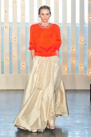 Показы мод Jenny Packham Осень-зима 2014-2015 | Подиум на ELLE - Подиум - фото 3853