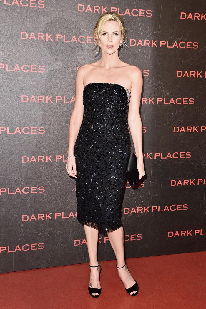 Стиль Шарлиз Терон: платье-бюстье от Christian Dior