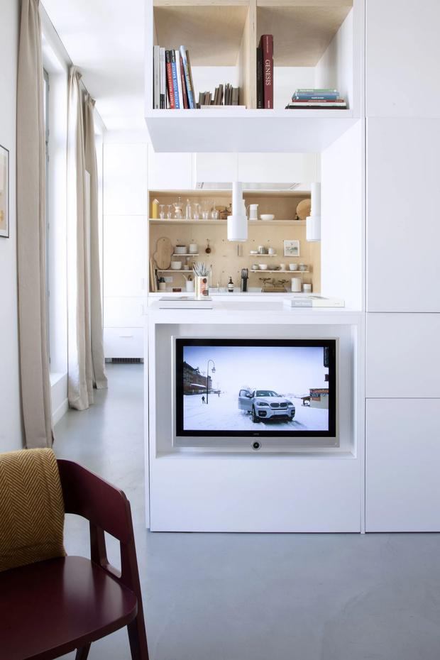 Минималистская квартира 47  м²  в Париже (фото 3)