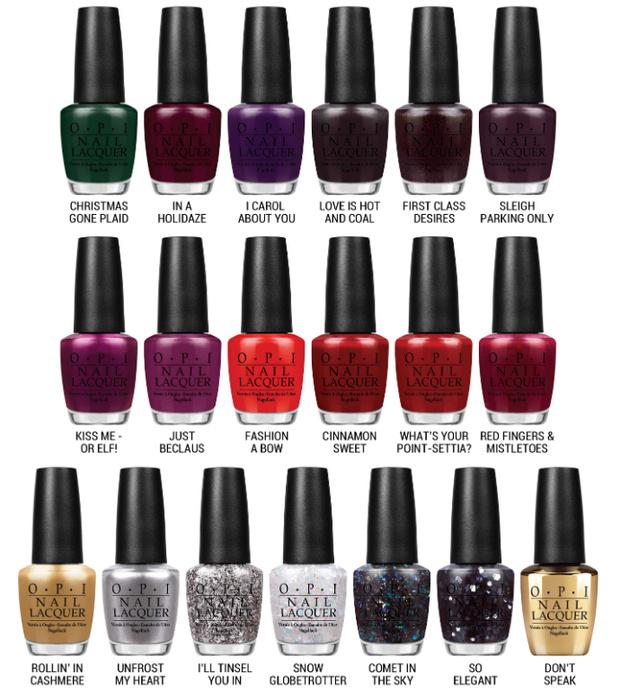 Коллекция лаков для ногтей Gwen Stefani Holiday 2014 от OPI