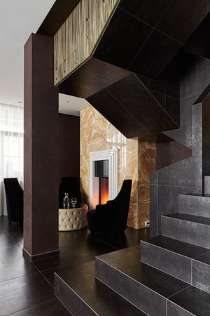 Дом 270 м2 в Саратове в стиле глэм-шик фото [8]