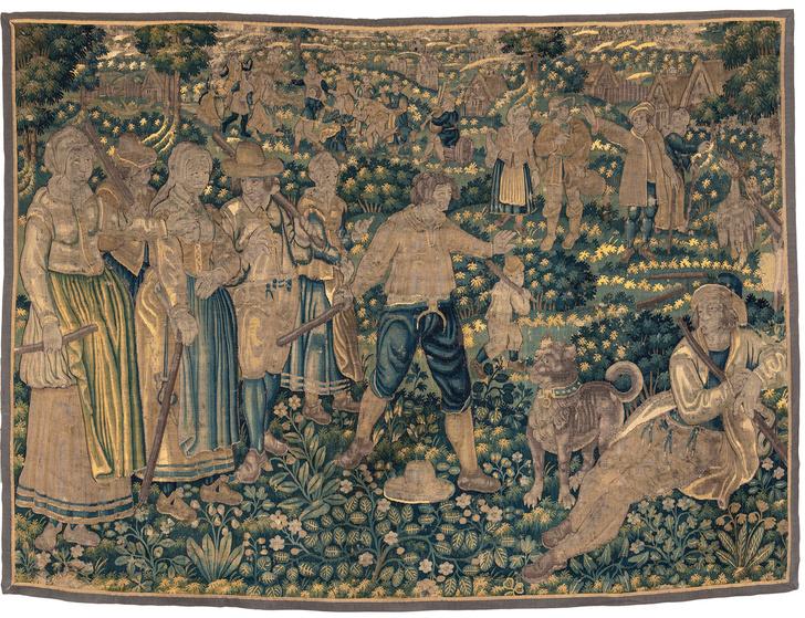 Шпалеры XVI-XVII веков на выставке в Москве (фото 0)
