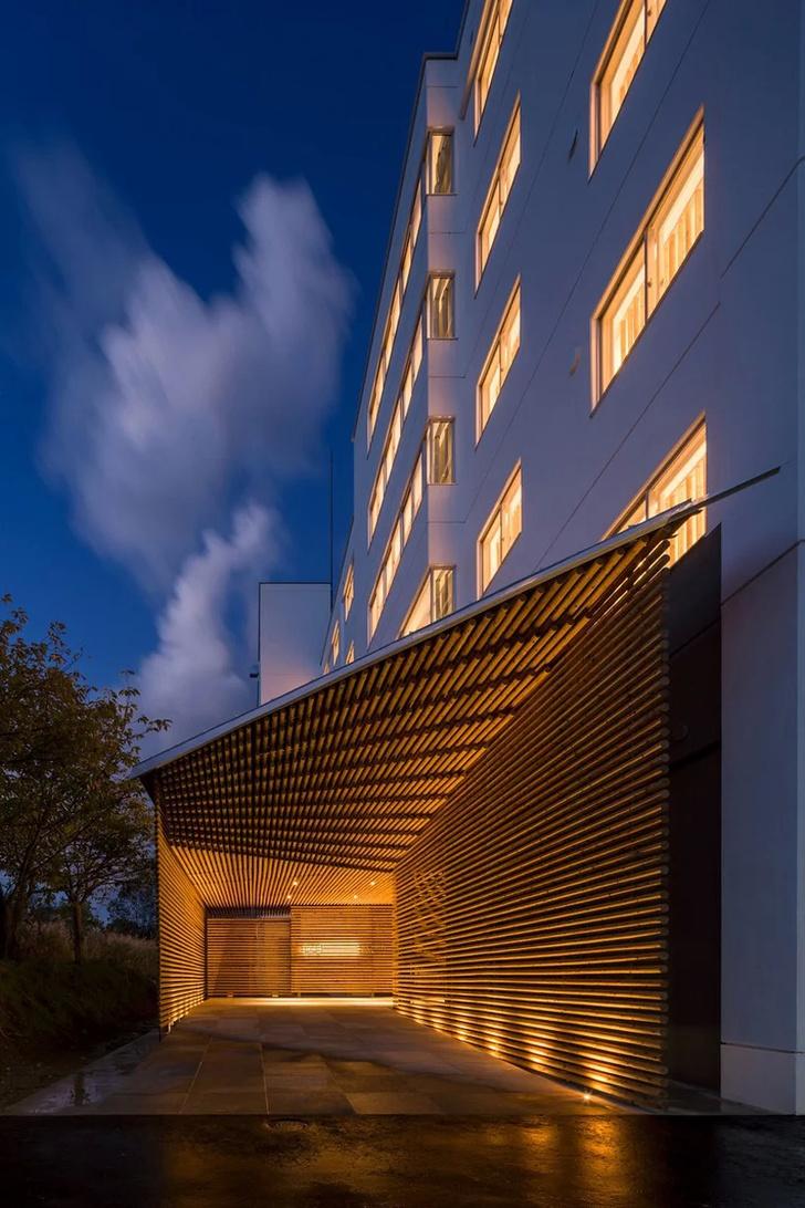 Отель по проекту Кенго Кумы на острове Хоккайдо (фото 14)