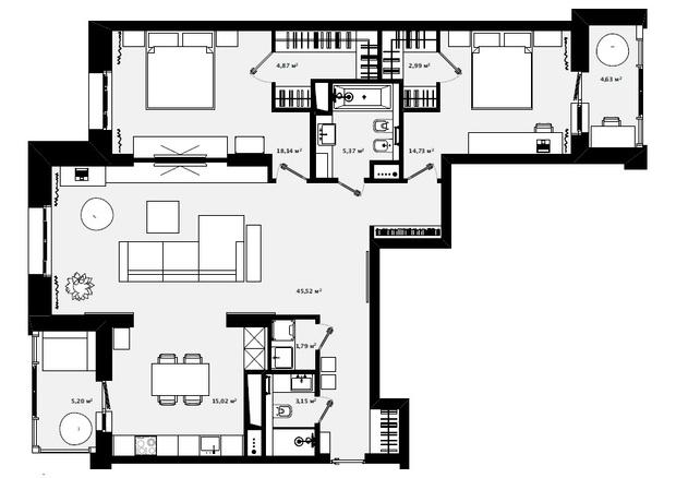 Немецкая точность: квартира 120 м² для семьи из трех человек (фото 16)